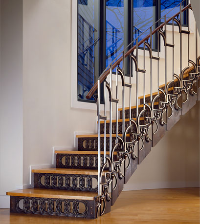 Bronze Staircase, Guilford, Connecticut